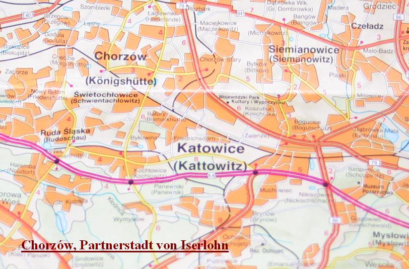 Chorzów-Karte